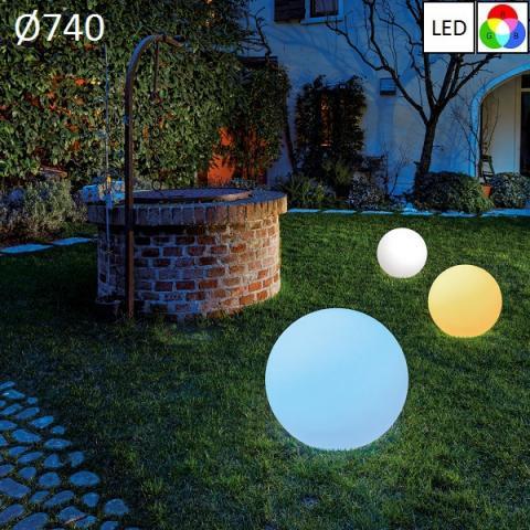 Градински осветител Ø740 LED RGB IP65