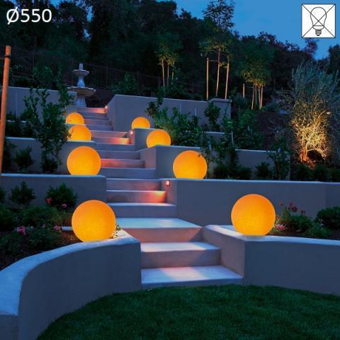 Градински осветител Ø550 E27 max 46W амбра