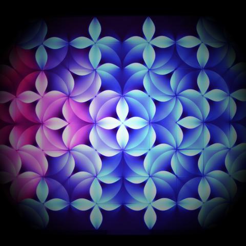 RGB модулен елемент за светещо пано