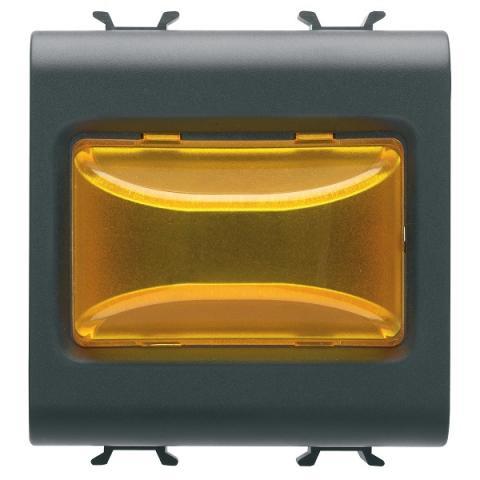 Индикаторна LED лампа 12V ac/dc/ 230V ac 50/60Hz - жълта