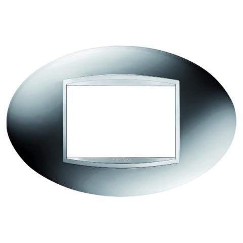 Рамка ART 3 модула - Chrome