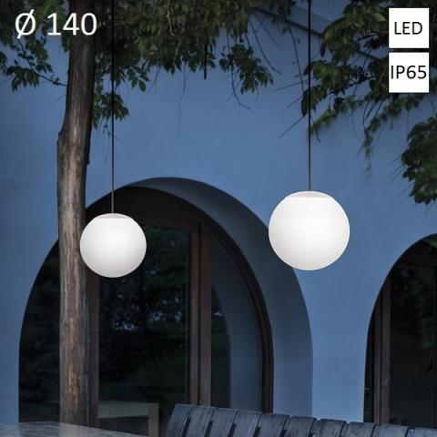 Пендел Ø140 LED 8W IP65 бял