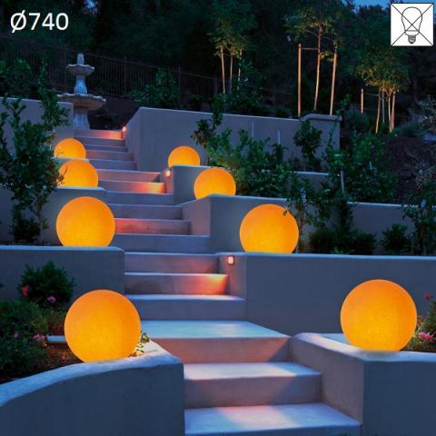 Градински осветител Ø740 E27 max 57W амбра