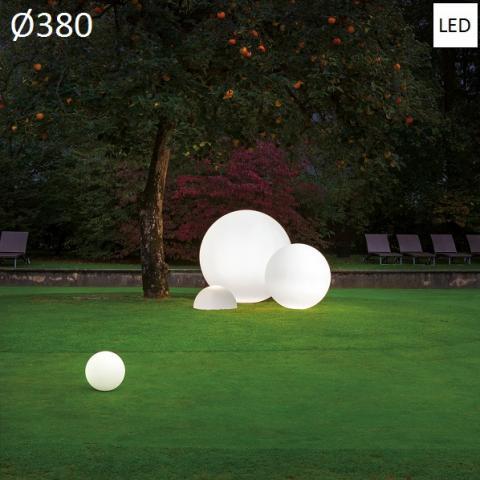 Наземна лампа Ø380 LED 15W IP65 бялa