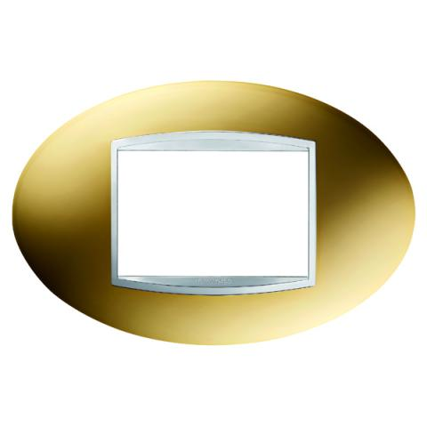 Рамка ART 3 модула - Gold