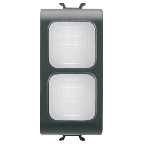 Двойна индикаторна лампа бяла