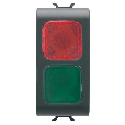 Двойна индикаторна лампа червено/зелено