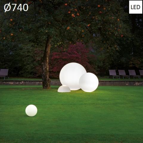 Наземна лампа Ø740 LED 27W IP65 бялa