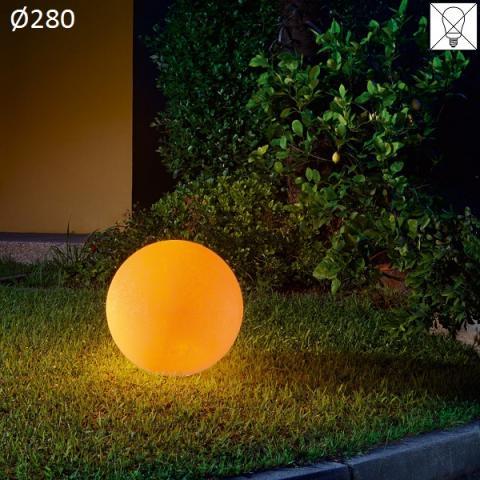 Наземна лампа Ø280 E27 max 30W амбра